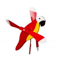 Red Parrot Whirlybird Garden Stake