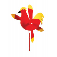 Rooster Whirlybird Garden Stake