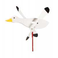 Snow Goose Whirlybird Garden Stake