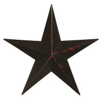"40"" Decorative Amish Barn Star - Black"