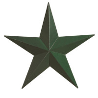 "16"" Decorative Amish Barn Star - Green"