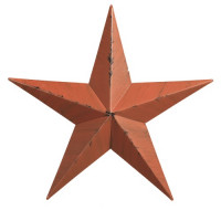 "10"" Decorative Amish Barn Star - Orange"