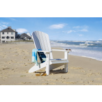 Fan Back Polywood Adirondack Chair - White
