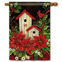 Winter Birdhouse Standard Flag