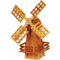 Small Wooden Garden Windmill