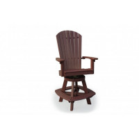 Great Bay Poly Swivel Bar Chair - Cherrywood