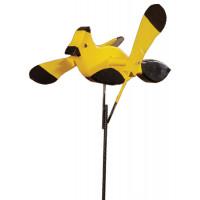 Yellow Black Bird Whirlybird Garden Stake