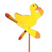 Yellow Duck Whirlybird Garden Stake