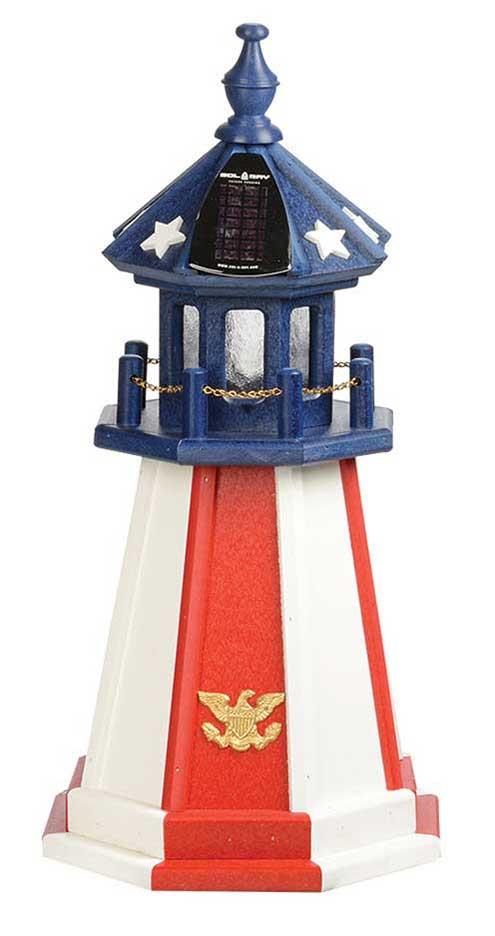 2' Patriotic Polywood Lighthouse- Patriotic