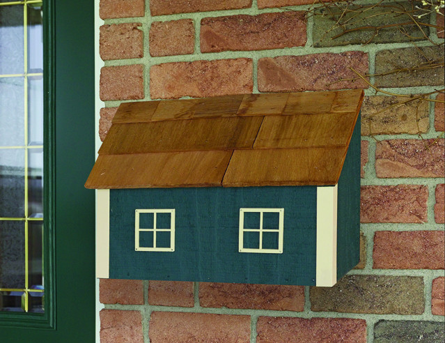 Traditional Paper Box City Mailbox - Hunter & Beige
