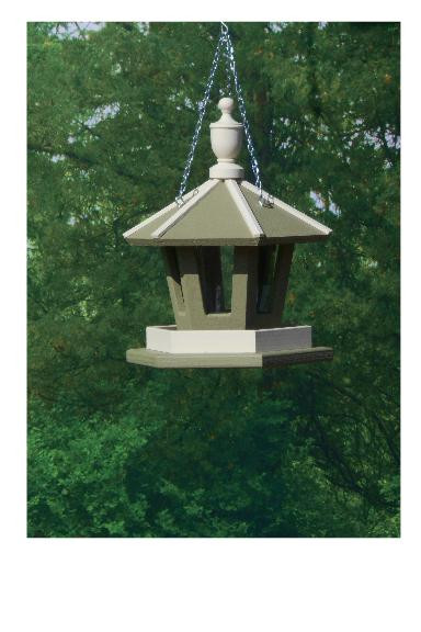 Hanging Gazebo Bird Feeder - Wildgrasses & Off White