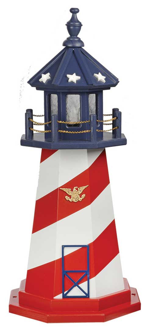 3' Amish Crafted Wood Garden Lighthouse - Cape Hatteras