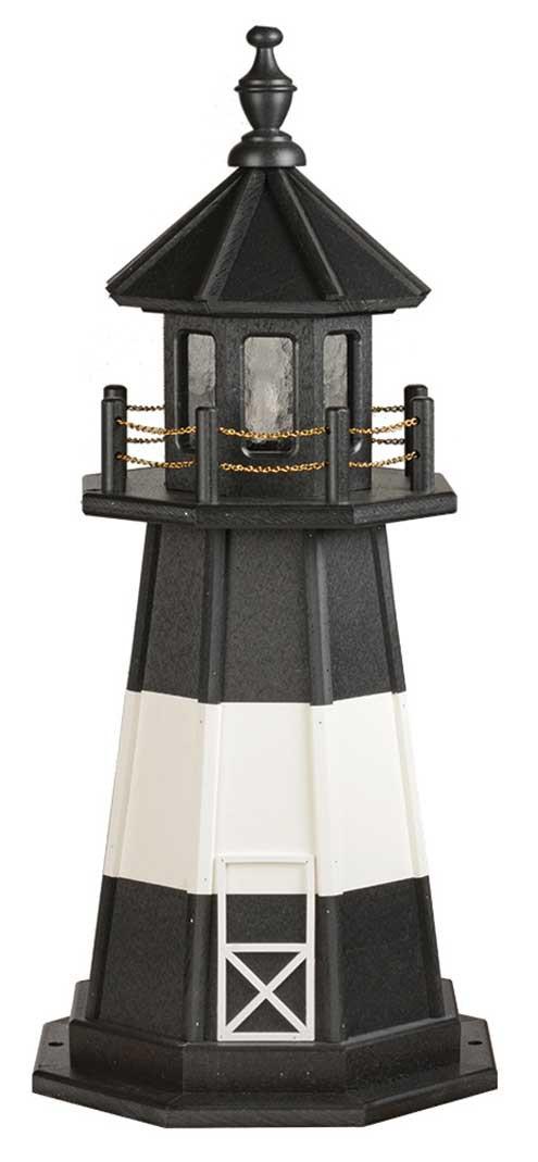 3' Tybee Island Polywood Lighthouse