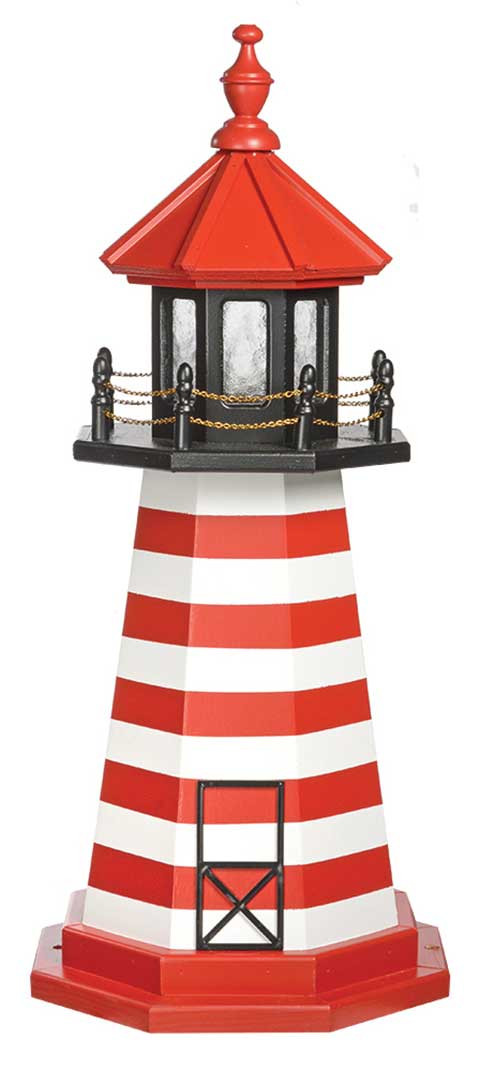 3' West Quoddy Wooden Lighthouse