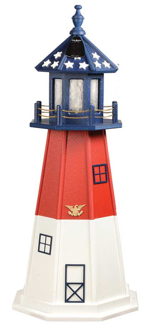 4' Patriotic Polywood Lighthouse - Barnegat