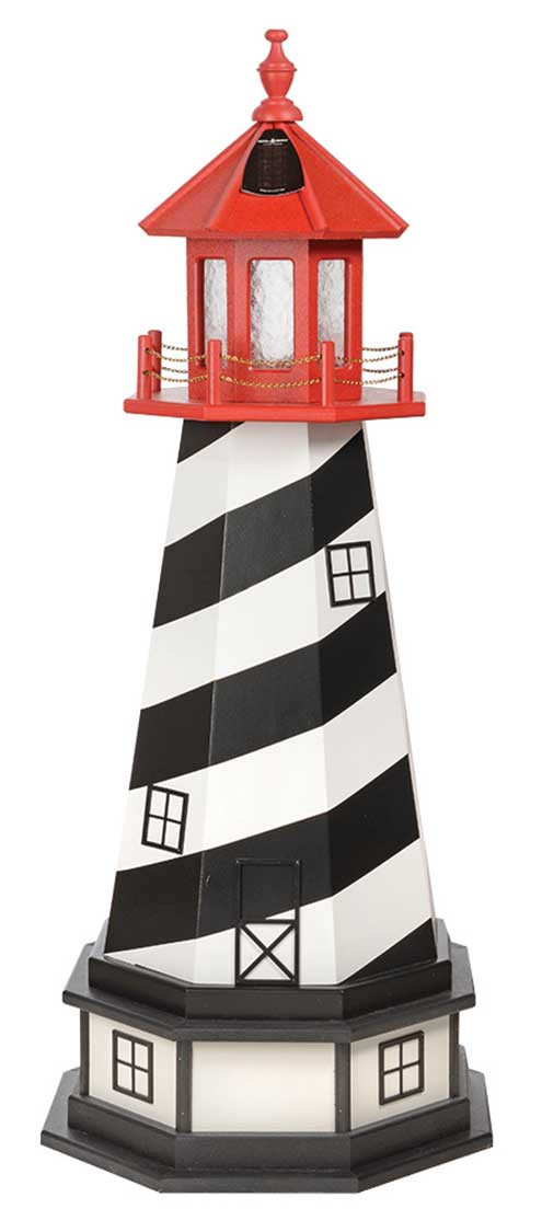 4' St. Augustine Wooden Lighthouse w/ Base
