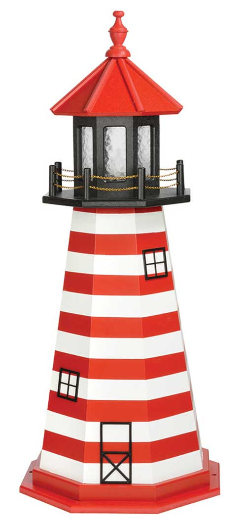 4' West Quoddy Wooden Lighthouse