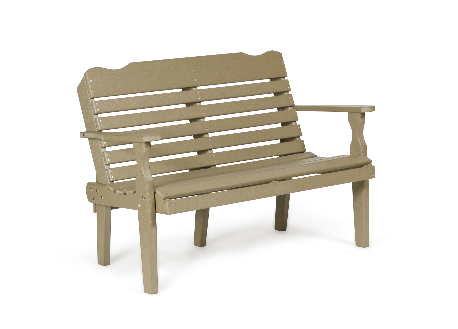 Poly West Chester Bench - Weatherwood