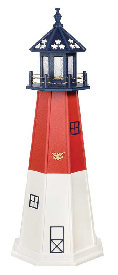 5' Patriotic Polywood Lighthouse - Barnegat