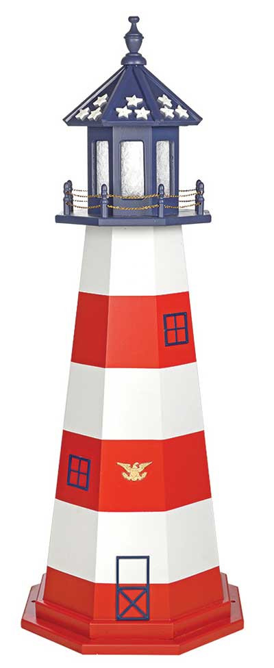 5' Amish Crafted Wood Garden Lighthouse - Assateague