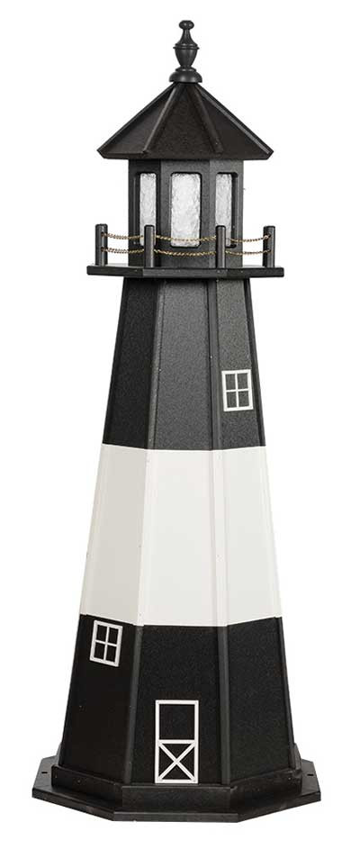 5' Tybee Island Wooden Lighthouse