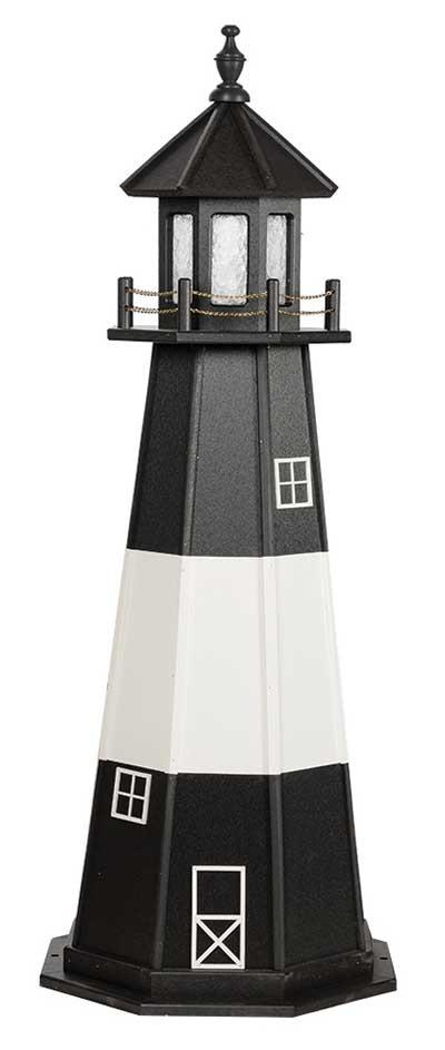5' Tybee Island Polywood Lighthouse