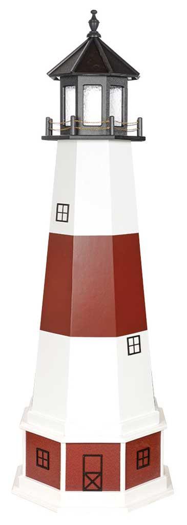 6' Montauk Polywood Lighthouse with Base