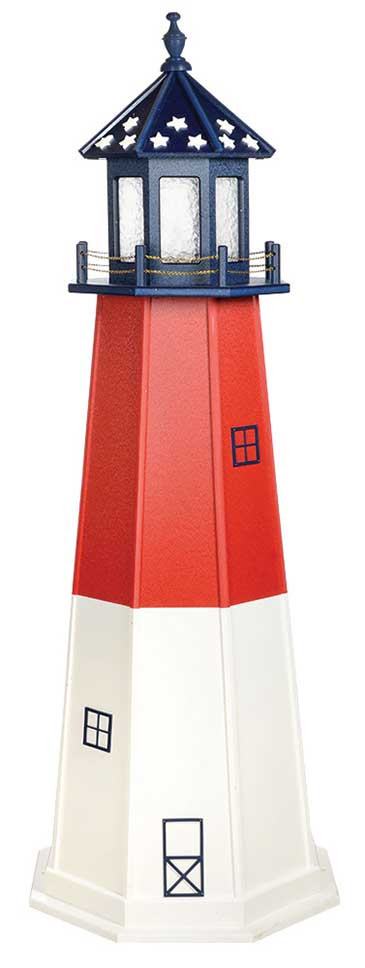 6' Patriotic Polywood Lighthouse - Barnegat
