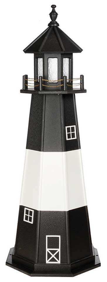 6' Tybee Island Polywood Lighthouse