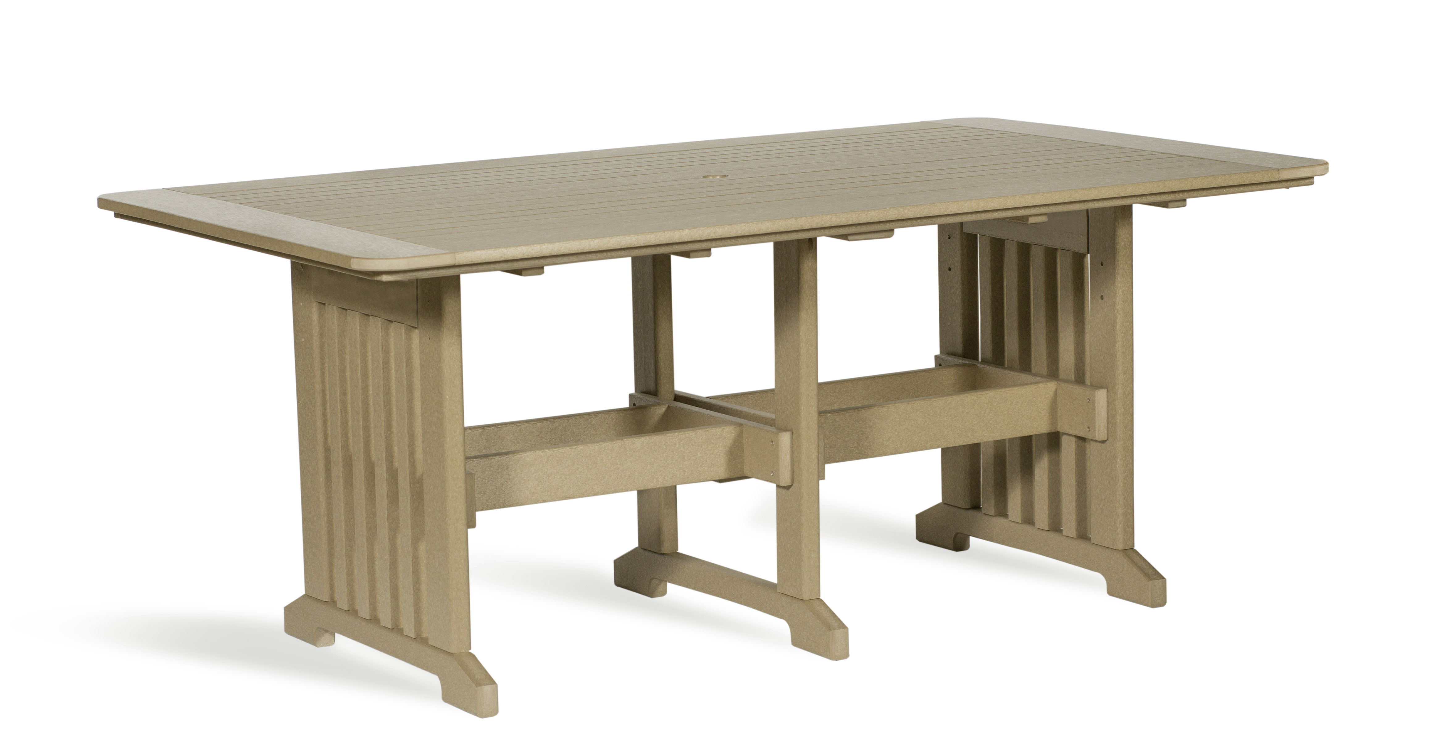 "Poly 43"" x 72"" Dining Table - Weatherwood"