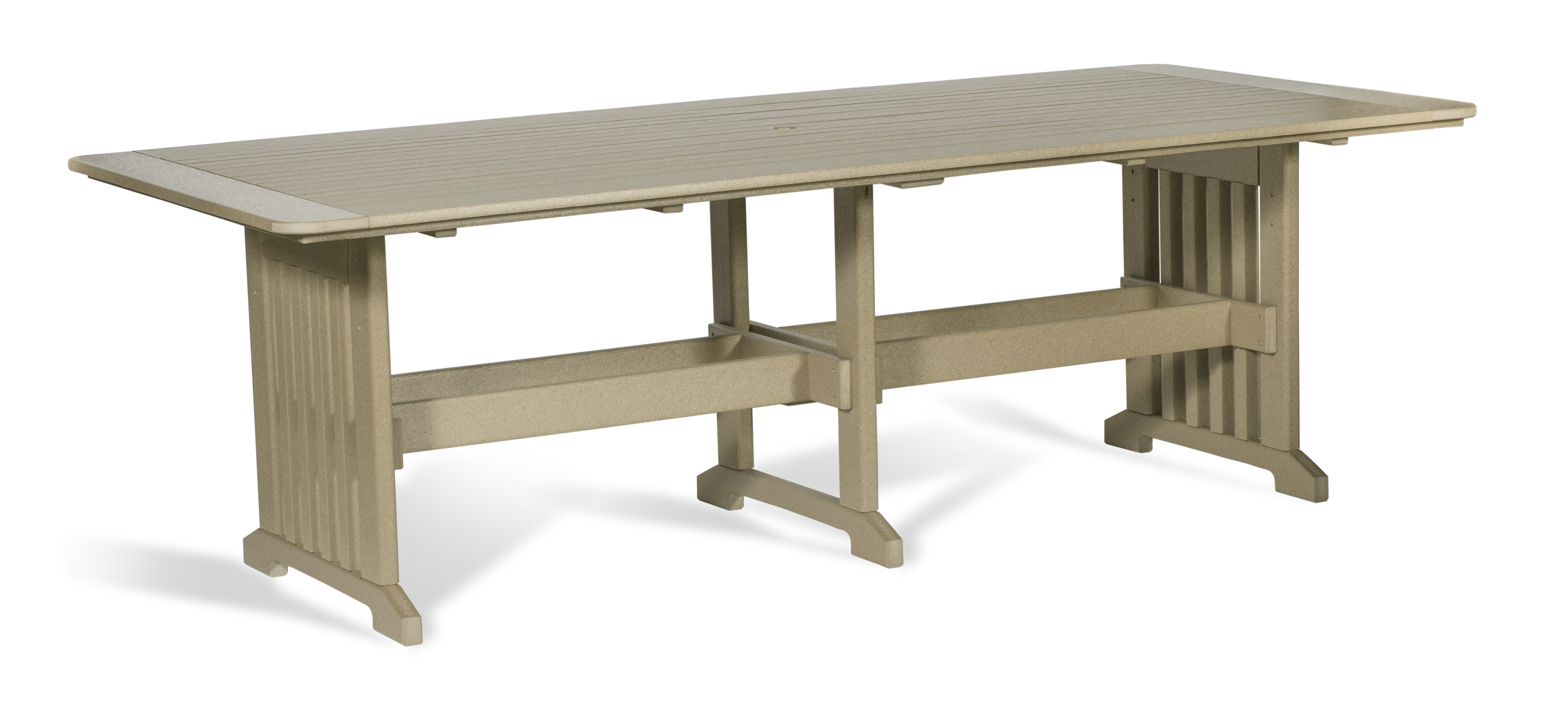 "Poly 43"" x 96"" Dinning Table - Weatherwood"