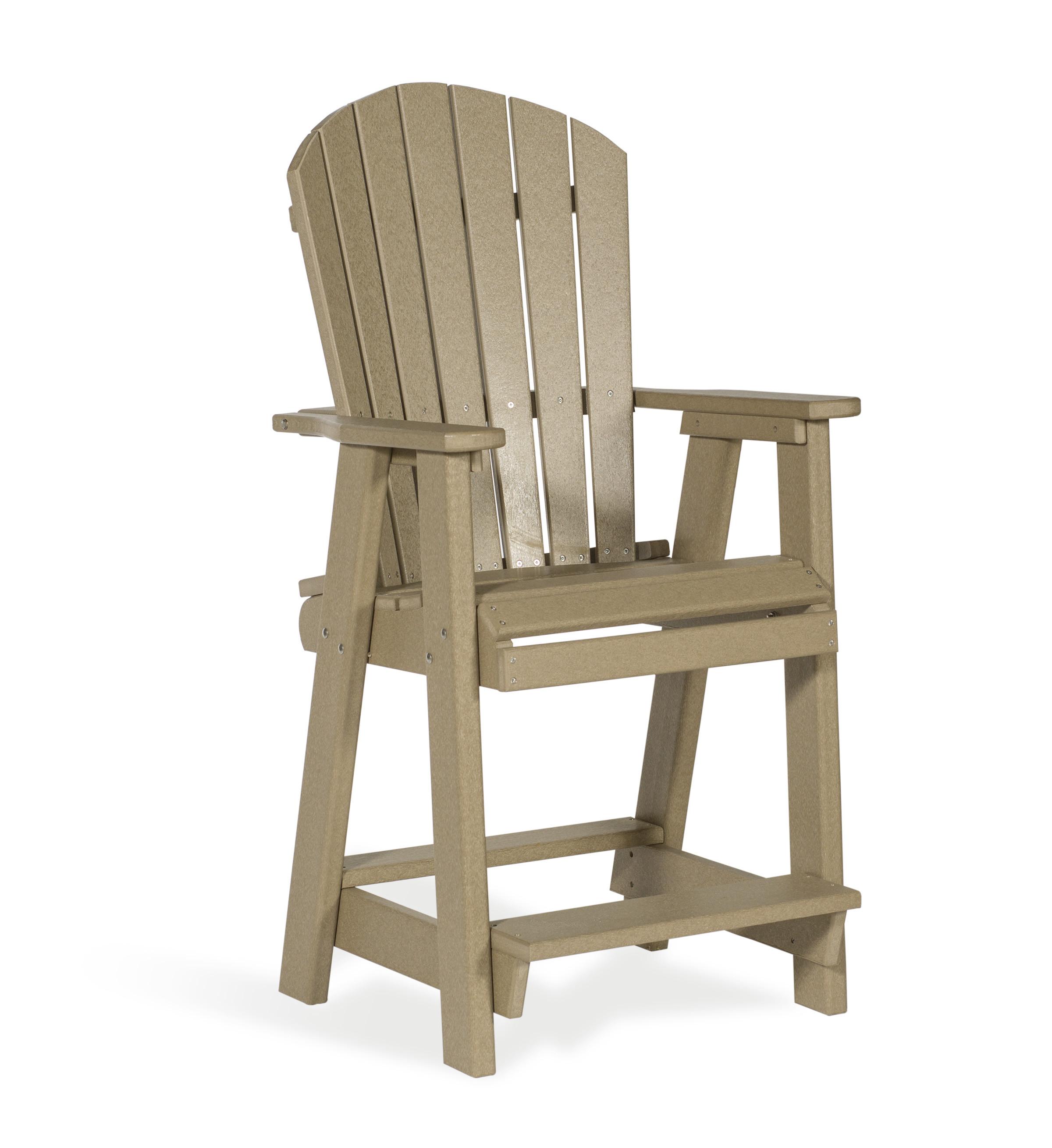 Poly Balcony Chair - Weatherwood