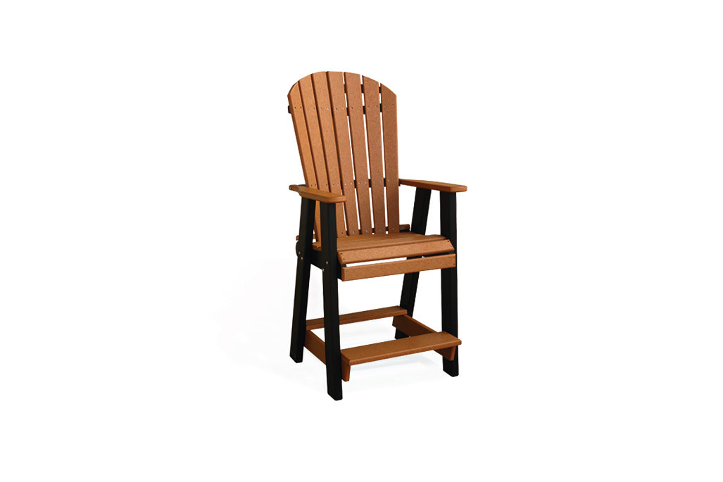 Poly Balcony Chair - Cedar & Black