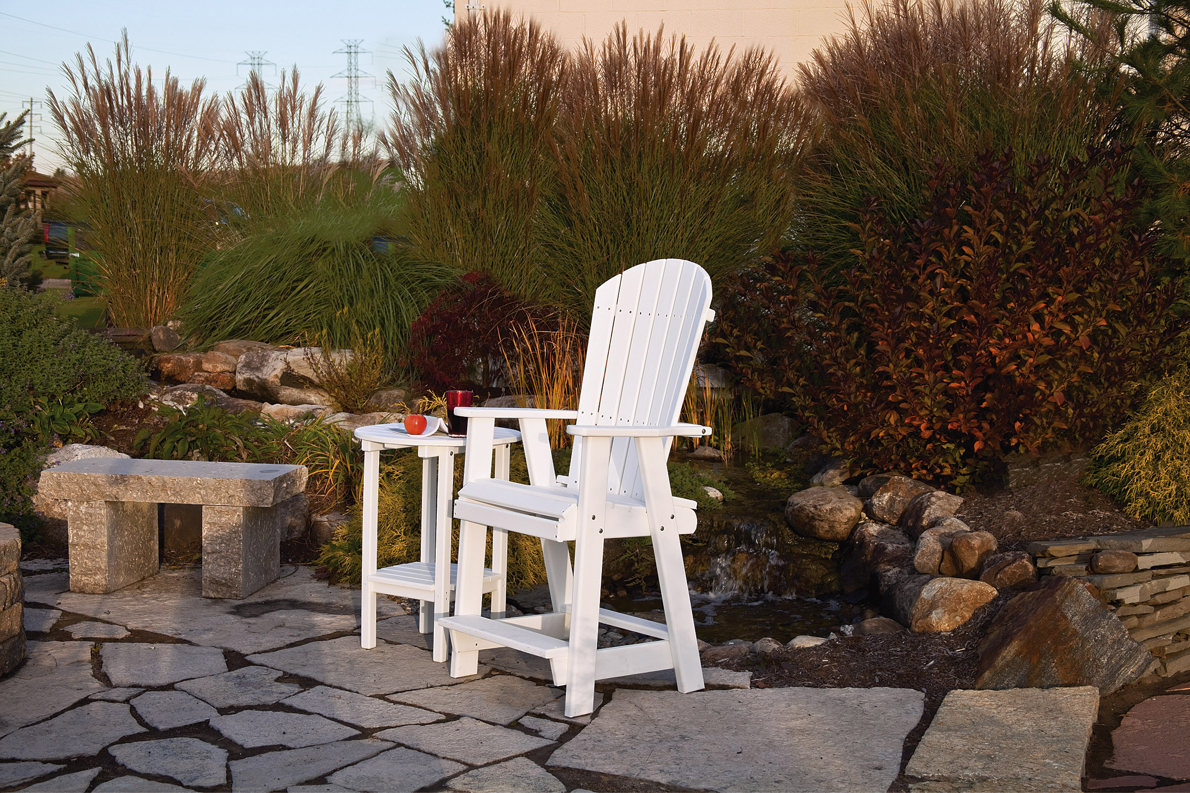 Poly Balcony Chair - White