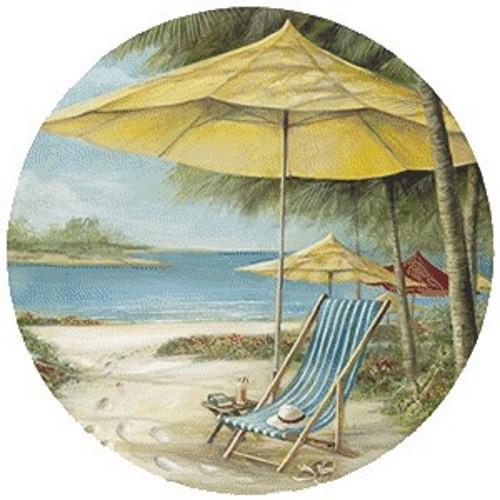 Beach Chair with Umbrella Coaster Set