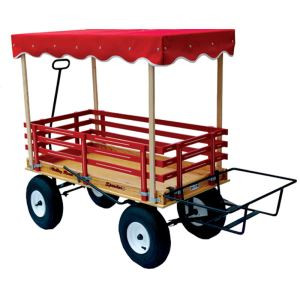 Valley Road Speeder Wagon - Model #1300 shown with added canopy & ice chest carrier