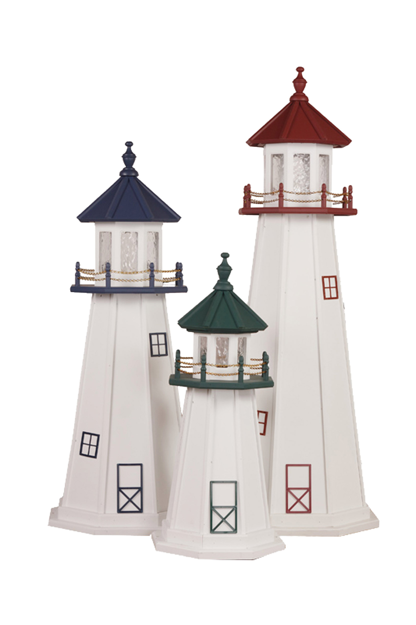 Cape May, Cape Cod & Marblehead Polywood Lighthouses
