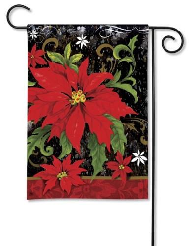 Classic Poinsettia Garden Flag