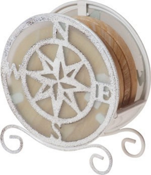 Compass Rose Coaster Holder