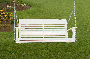 5' West Chester Porch Swing - White
