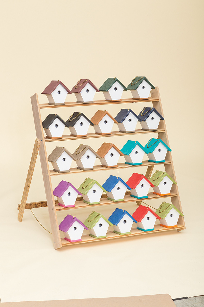 Poly Wren House sown in multiple colors