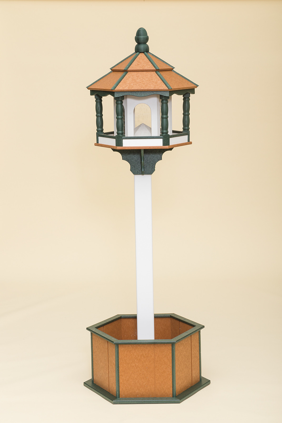 Large Hexagon Bird Feeder - Poly -Shown on post