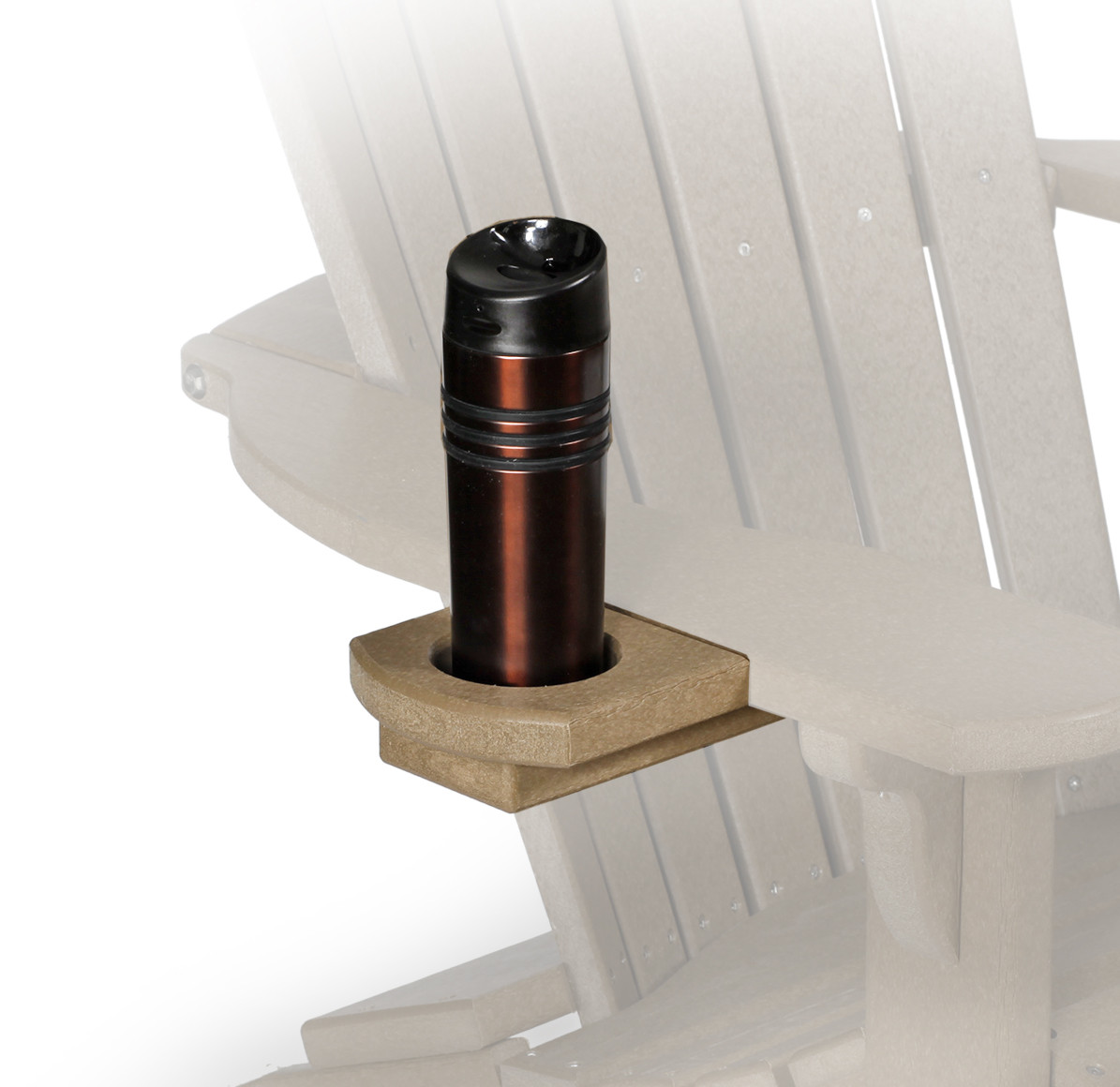 Fan Back Polywood Adirondack Chair Cup Holder