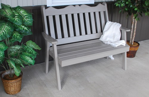 4' Royal English Yellow Pine Garden Bench - Olive Gray