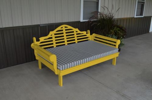 5' Marlboro Yellow Pine Daybed - Canary Yellow w/ Cushion