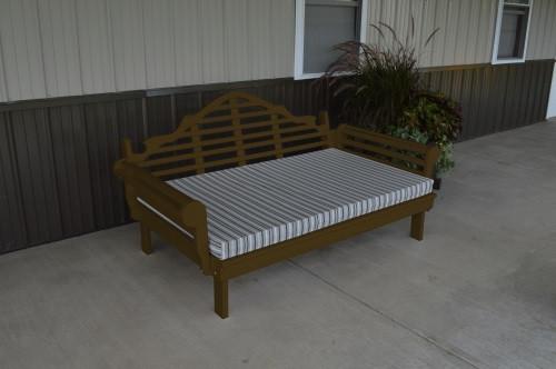 5' Marlboro Yellow Pine Daybed - Coffee w/ Cushion