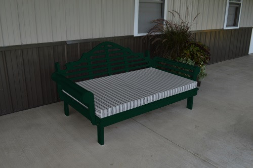 6' Marlboro Yellow Pine Daybed - Dark Green w/ Cushion