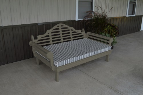 6' Marlboro Yellow Pine Daybed - Olive Gray w/ Cushion