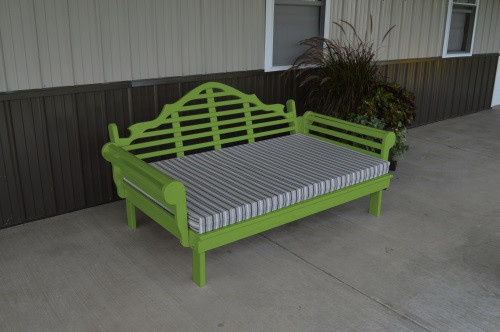6' Marlboro Yellow Pine Daybed - Lime Green w/ Cushion