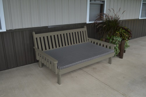 5' Traditional Yellow Pine Daybed - Olive Gray w/ Cushion